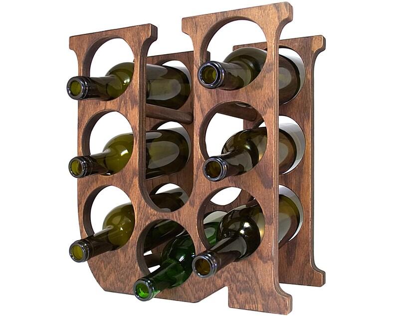 Letter U Wine Rack Left