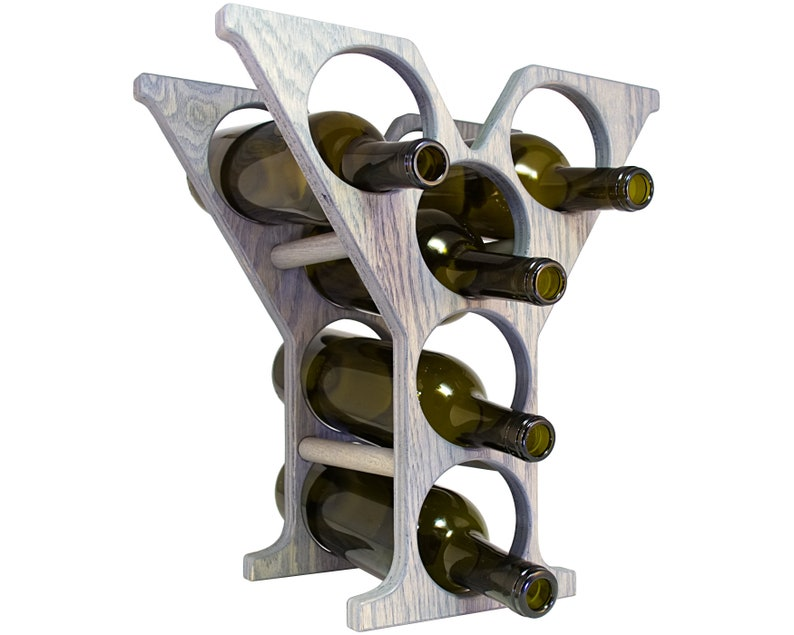 Letter Y Wine Rack Gray - Right