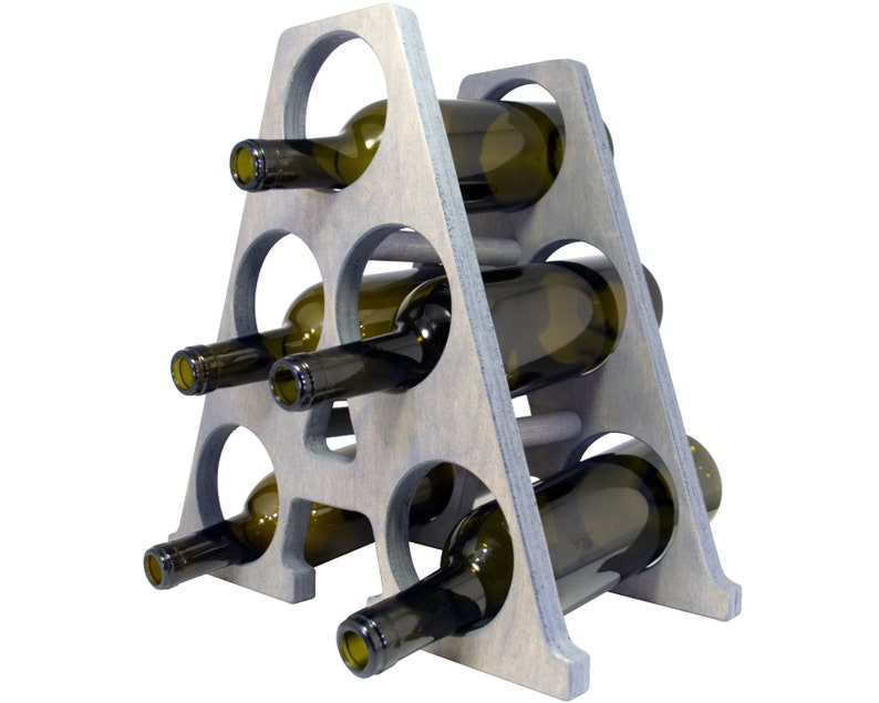 Letter A Wine Rack - Weathered Gray - Left