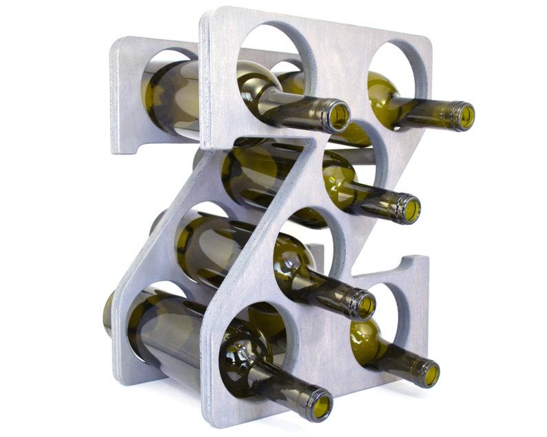 Letter Z Wine Rack Gray - Right