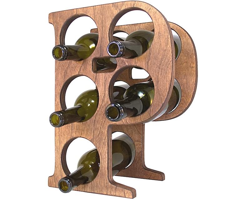 Letter P Wine Rack Left