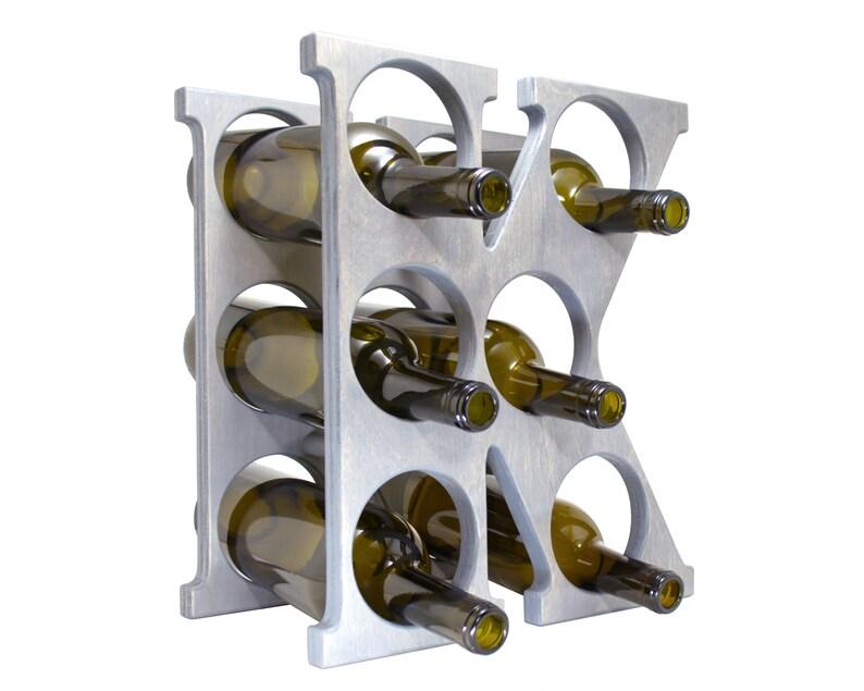 Letter K Wine Rack Gray Right