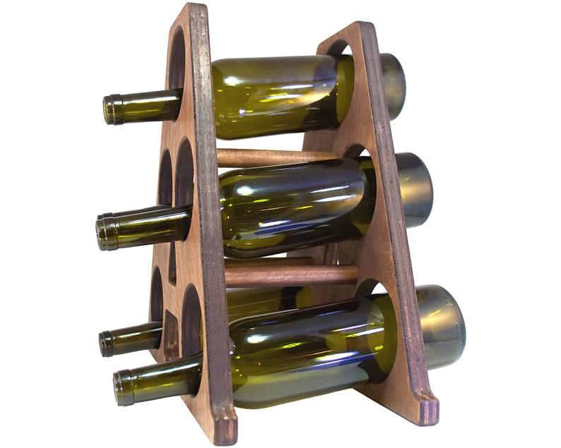 Letter A Wine Rack Side