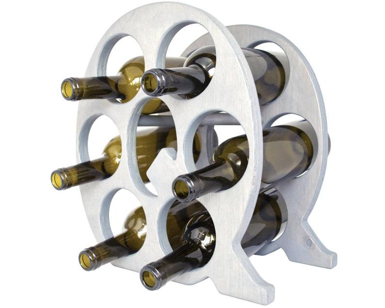 Letter Q Wine Rack Gray - Left