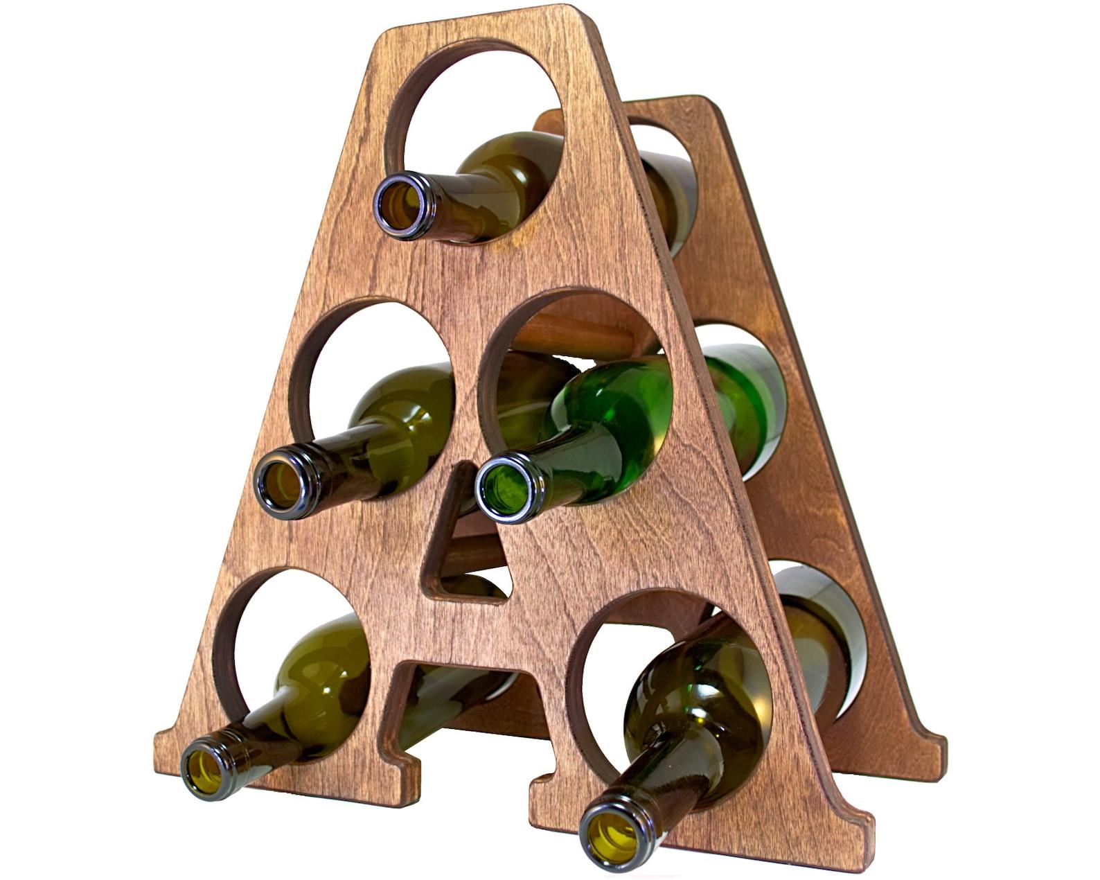 Letter A Wine Rack Left
