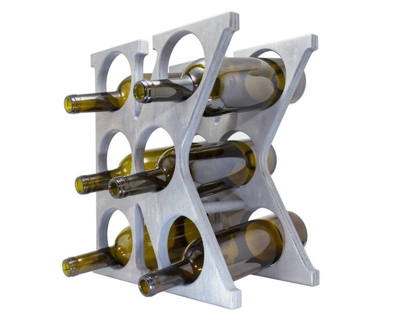 Letter K Wine Rack Gray Left