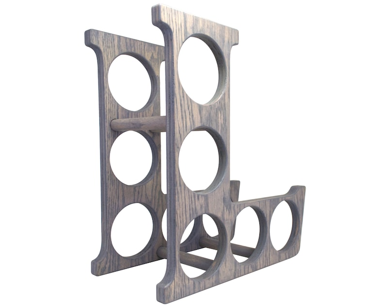 Letter L Wine Rack Gray - Right