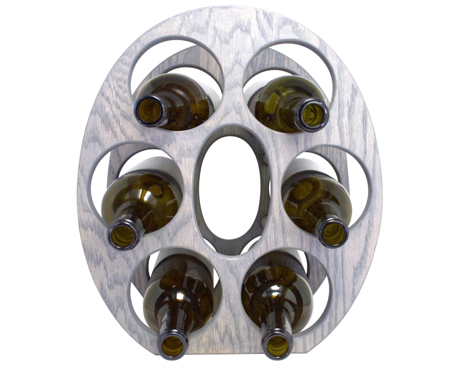 Letter O Wine Rack Gray - Front