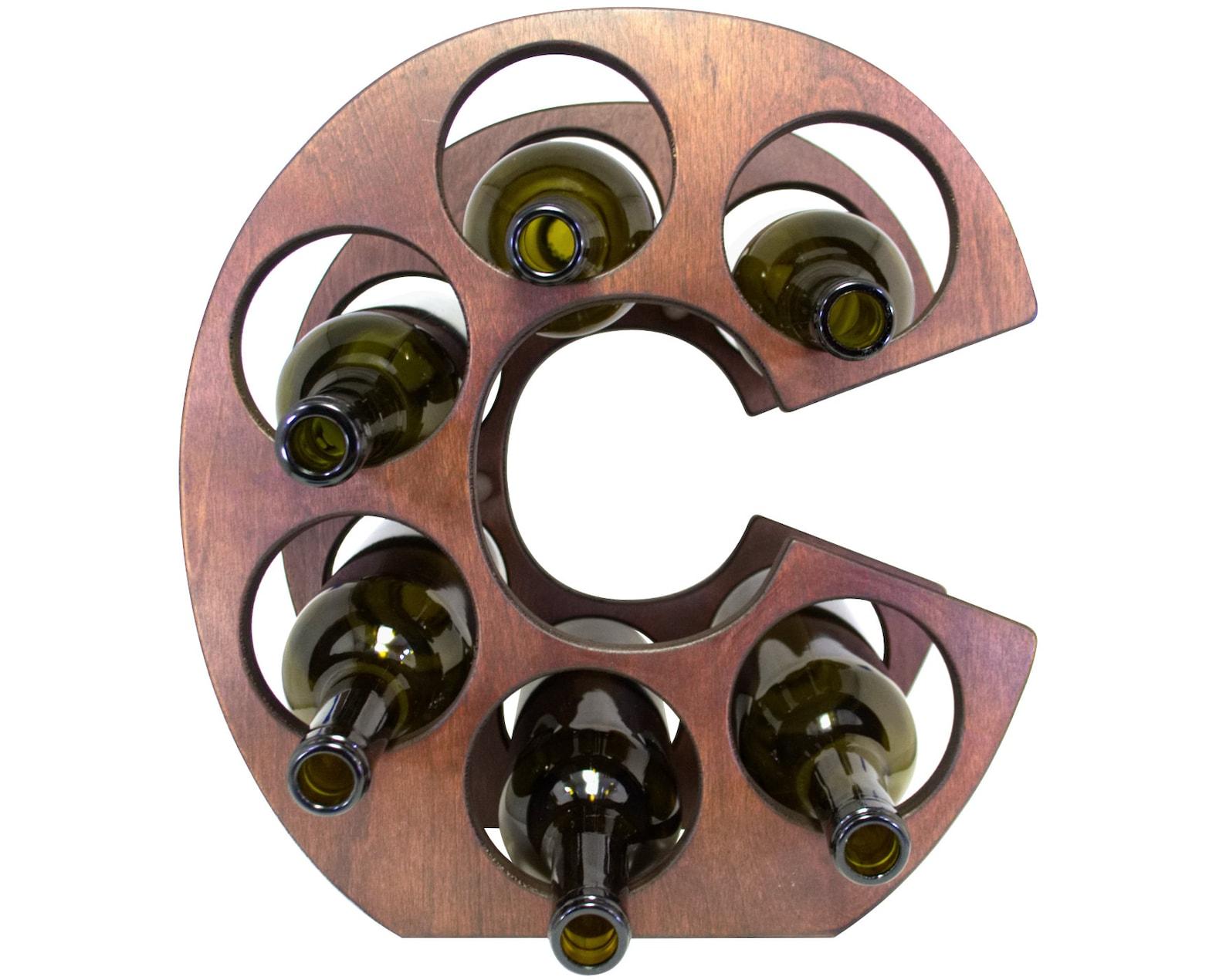 Letter C Wine Rack Left