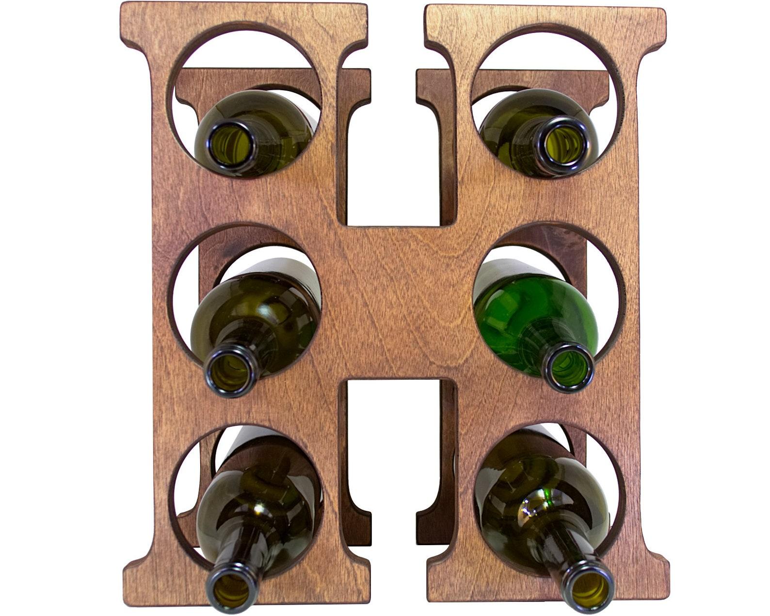 Letter H Wine Rack Front