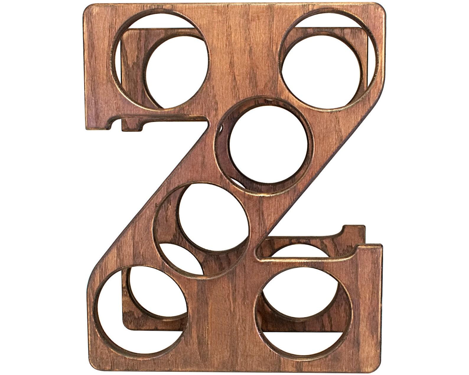 Letter Z Wine Rack Front