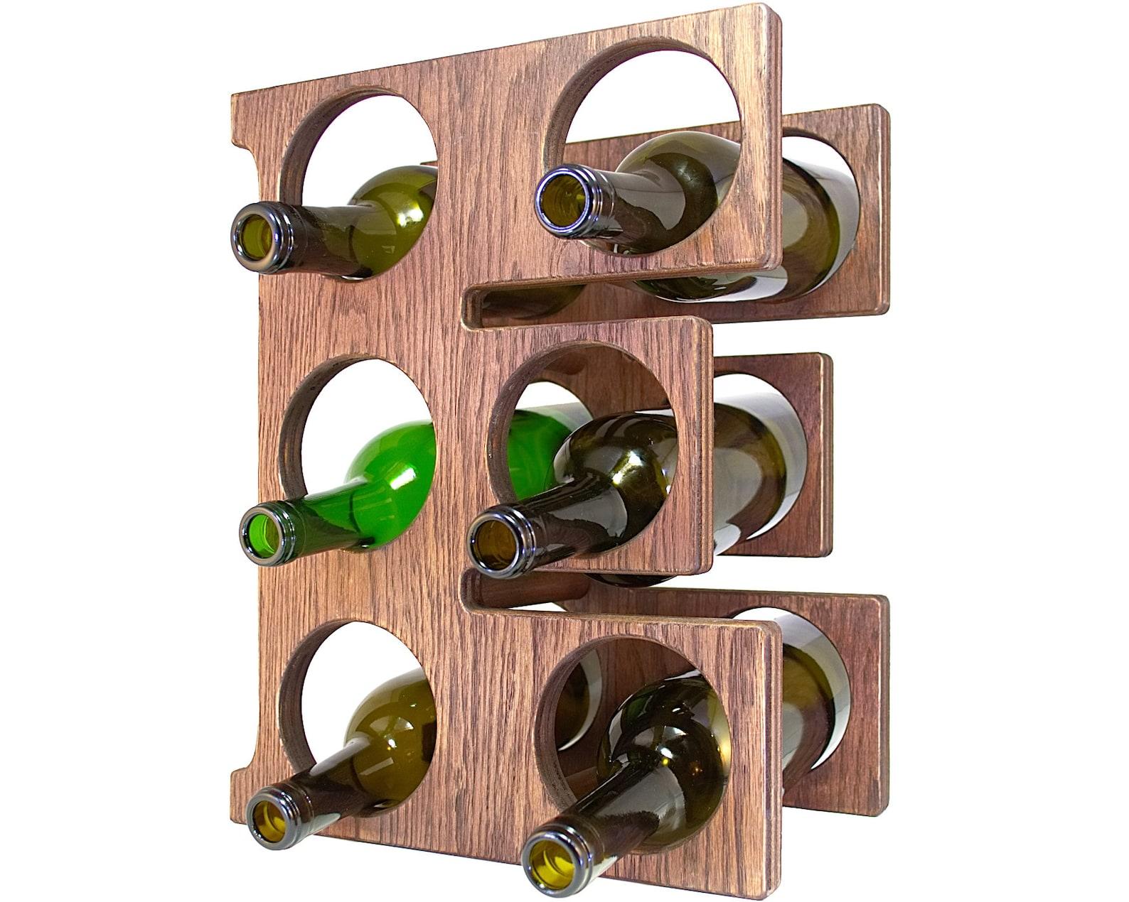 Letter E Wine Rack Left