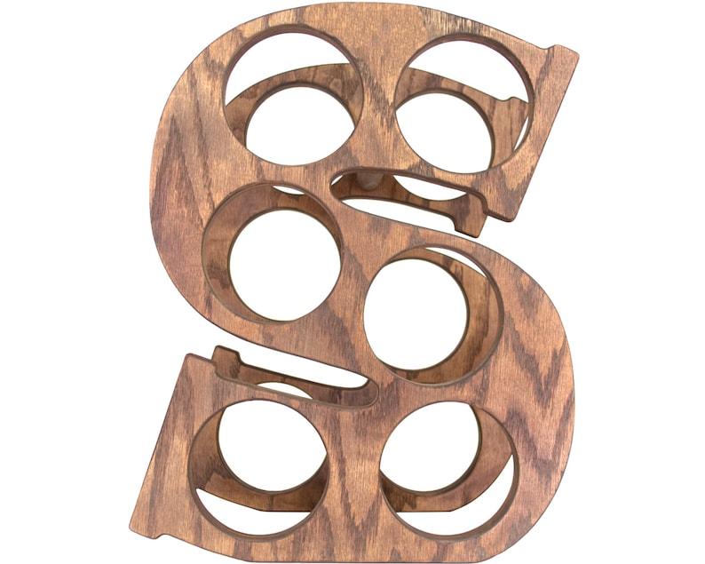 Letter S Wine Rack Front