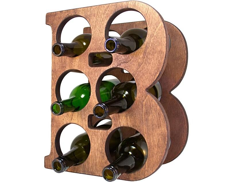 Letter B Wine Rack Front