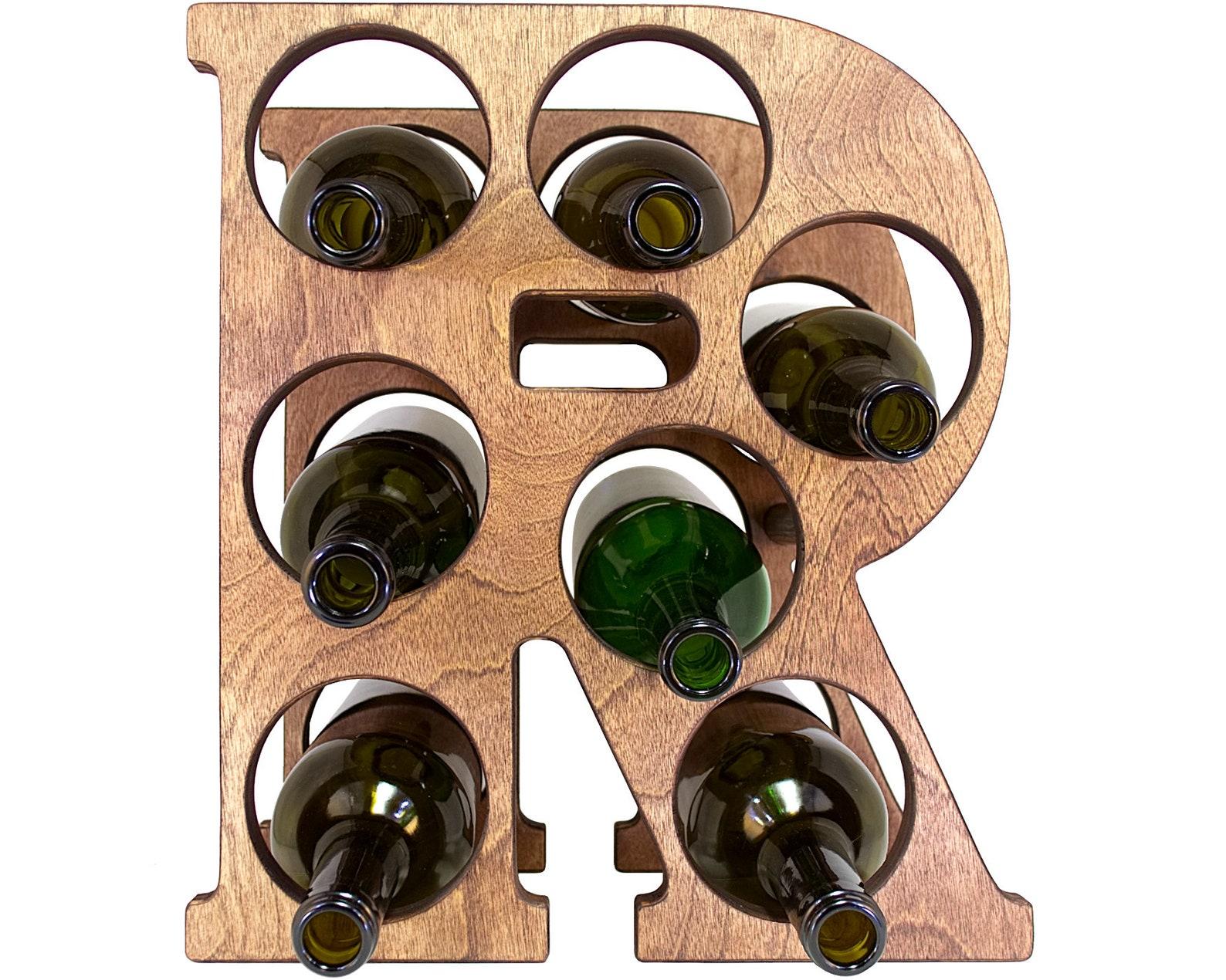 Letter R Wine Rack Front