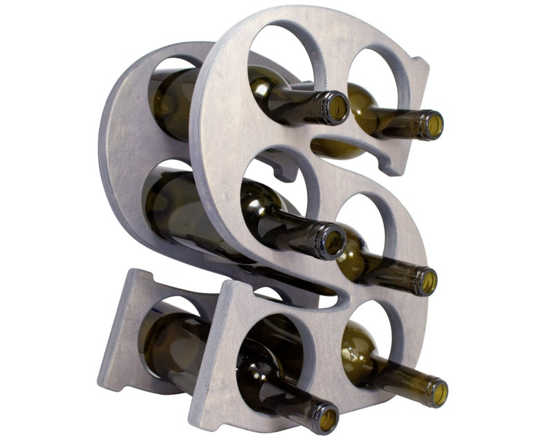 Letter S Wine Rack Right