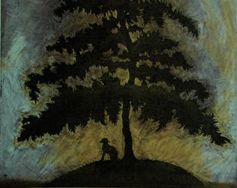 Fine Art Etching, animal art, tree art