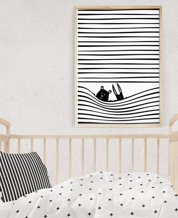 Nursery Wall Art Scandinavian Kids Room Decor 16x20 Prints | Etsy