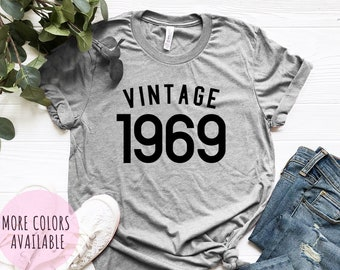 e645dd955 50th Birthday Gift For Women Men, 50th Birthday Shirt , Vintage 1969 T-Shirt  50th Birthday Graphic Tee 50th Birthday Gift ideas