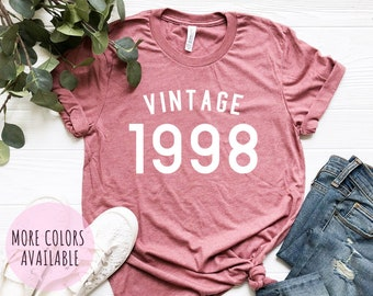 21st Birthday Gifts For Women Men Vintage 1998 Shirt Gift Man Party Tee T