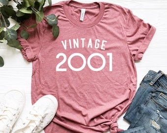 9c40c9ba 18th Birthday Shirt, Vintage 2001 Shirt, Funny 18Th Birthday Shirt, 18th  Birthday Tee, Made In the 2000s, 18th Birthday Gift, 18 AF Shirt