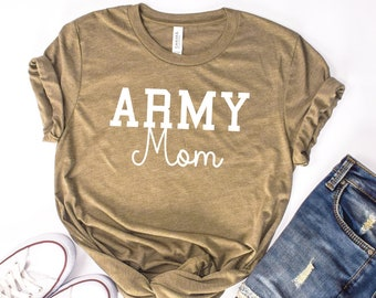 5113d455 Army Mom Shirt, Military Mom Shirt, Mothers Day Gift, Army Mom Tee, Army  Mom T-Shirt, Navy Mom Shirt, Marine Mom, Gift for Mom, Enlistment