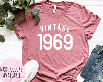 50th Birthday Gift For Women Men Shirt Vintage 1969 T Graphic Tee Ideas