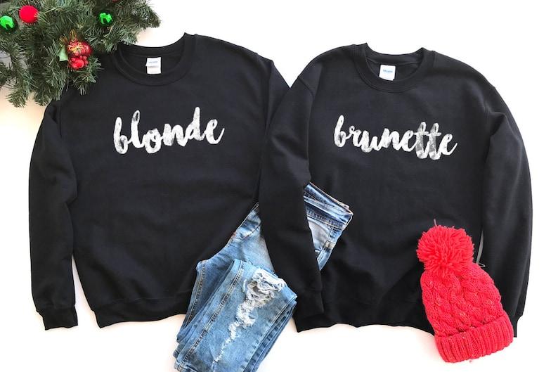 Brunette Blonde Crewneck Brunette Blonde Sweater brunette  80e0befafdbe