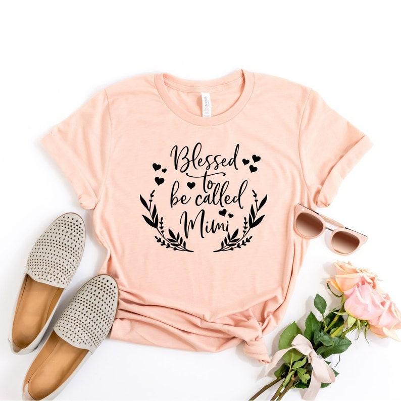 35224ea4f648 Mimi Shirts Mimi Gifts Blessed Mimi Women's Shirt | Etsy