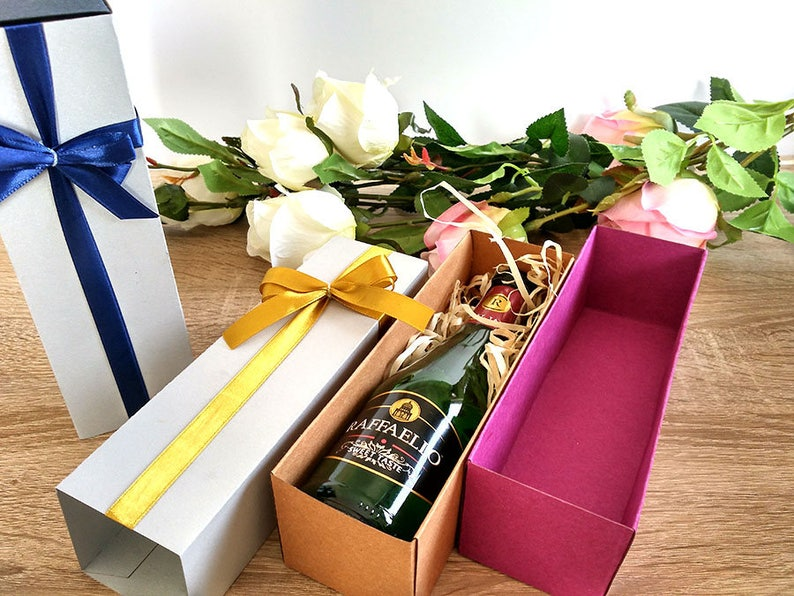 Wedding Wine Box Wine Gift Box Custom Wine Box Gift Box For Wine Box For Mini Champagne Box For Champagne Glasses Anniversary Wine Box