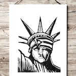 Puerto Rican Art- Estatua de la Libertad Selectiva Puerto Rico Flag