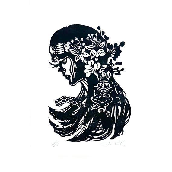 Jibara Taina With Taino Symbols Puerto Rico Art Poster Etsy
