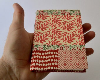 Handmade Notebook, a bit Xmas-y, Patchwork covers