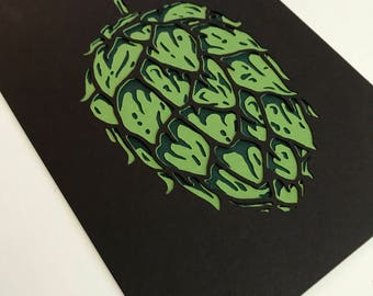 Hop Papercut Art Print 5x7