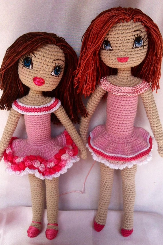 Angelica Crochet Doll Pdf Pattern Including Eyes Mouth Etsy