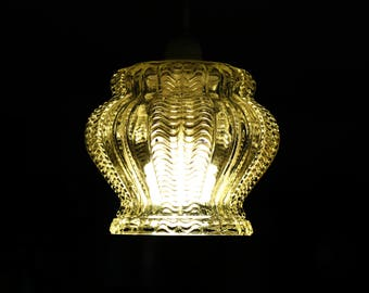 glass ceiling shade etsy