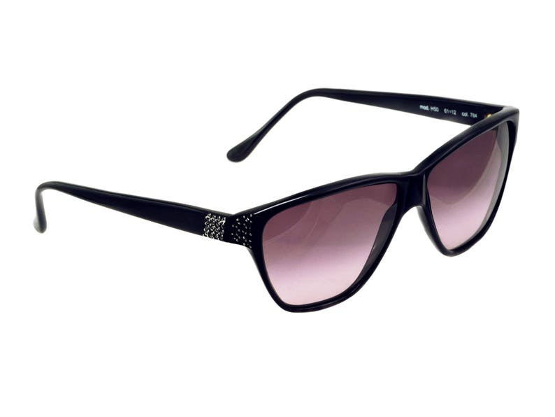 5c053f0e41 Versace sunglasses with rhinestones made in Italy. 80s