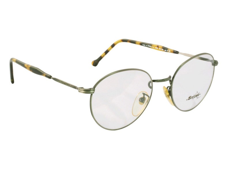 aed3d6fc7bb Sting vintage round glasses 80s made in Italy. Gunmetal