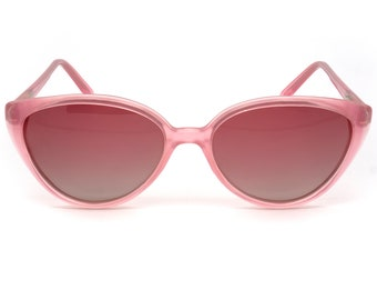 Vintage cat eye sunglasses, made in France in the 1970s by Argos. Rare pink sunglasses for women