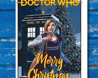 Doctor Who Christmas Cards.Doctor Who Greeting Etsy