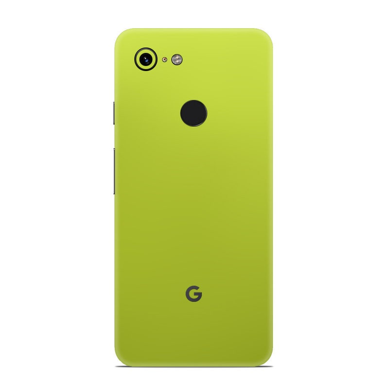 Matte Chrome Yellow Skin for Google Phones - Google Pixel 3, Pixel 2,  Pixel, Nexus 6, Nexus 6 P