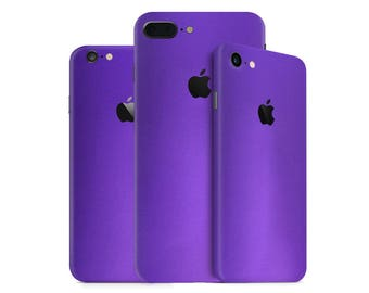 Metallic Purple iPhone Skin - Purple Matt Chrome Skin Wrap Decal for iPhone 7, 7 Plus, 6, 6 Plus, SE, 5, 4