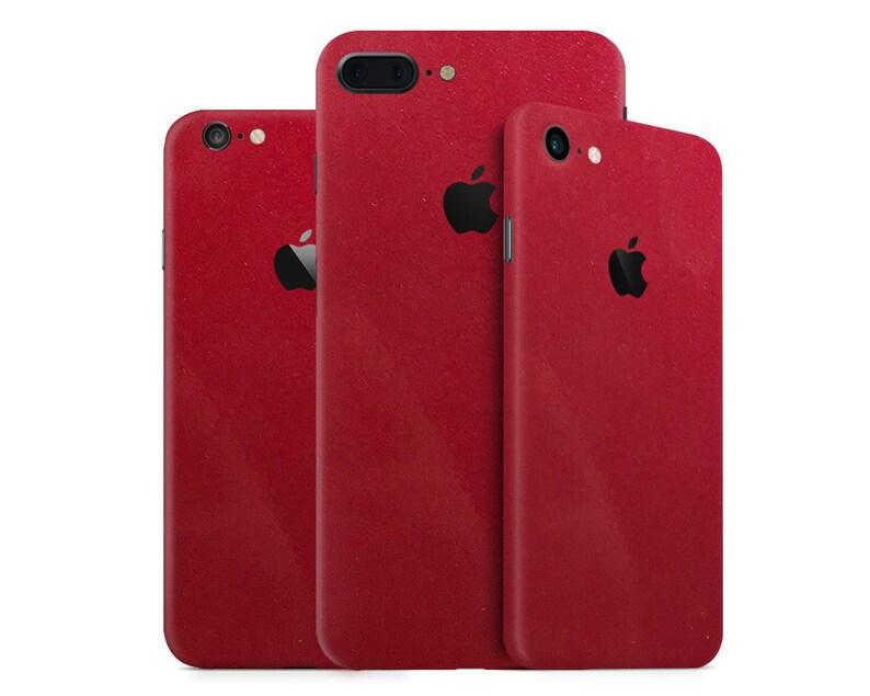 best website 972d4 49682 Metallic Candy Red iPhone Skin - Red Metallic Candy Skin Wrap Decal for  iPhone 10, iPhone 8 Plus, iPhone 8, iPhone 7, 6, 6 Plus, SE, 5, 4