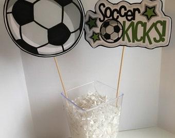 Birthday Party Centerpice Soccer Decorations Centerpiece Theme