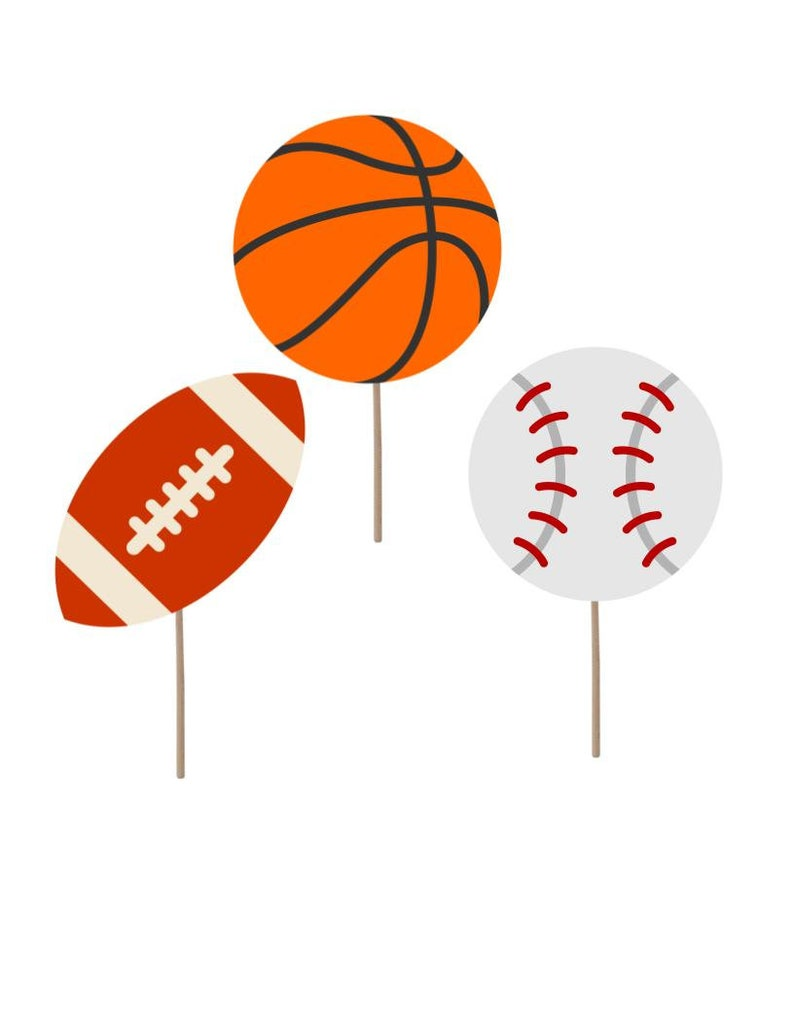 Sports Theme Party Decorations Cupcake Topper Boy Baby Etsy