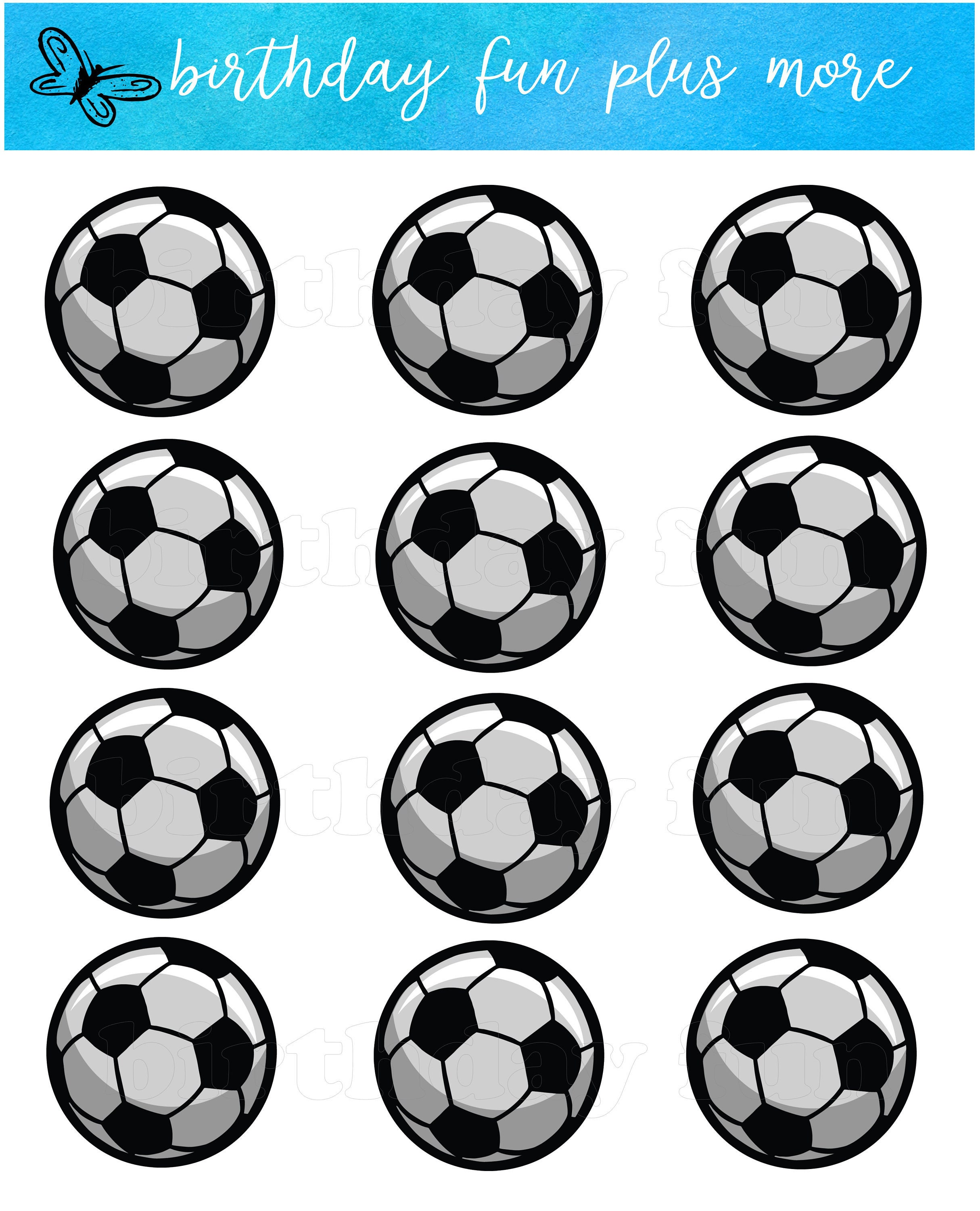 graphic regarding Soccer Printable identified as Football PRINTABLE Cupcake toppers, electronic football cupcake toppers, instantaneous obtain printable football, football get together, football topic, football