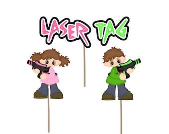 Laser tag Birthday cupcake topper, laser tag cupcake topper, laser tag birthday party, laser tag, birthday party, party supply