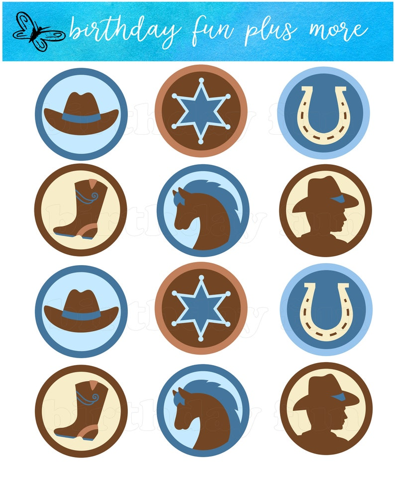 photo regarding Printable Cupcakes Toppers referred to as Cowboy Cupcake toppers PRINTABLE electronic cowboy rounds down load printable cowboy topic cowboy boy or girl shower birthday social gathering