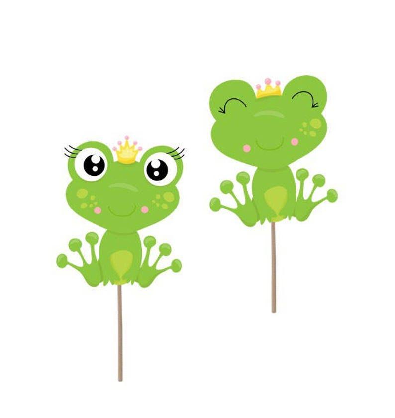 Frog Cupcake Toppers Frog Picks Frog Decorations Frog Cake Etsy