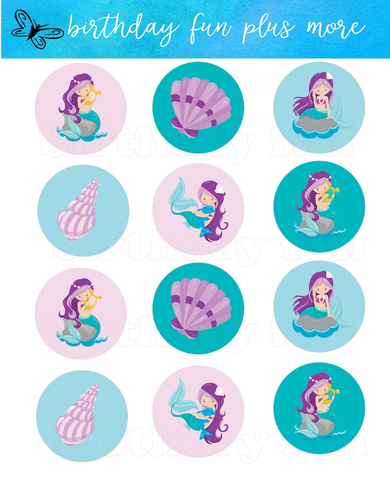 photograph relating to Printable Mermaid identify PRINTABLE Mermaid Cupcake toppers, electronic mermaid rounds, instantaneous down load printable mermaid, mermaid birthday get together, mermaid decorations